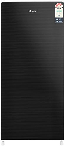 Haier 195 L 4 Star Direct-Cool Single-Door Refrigerator (HRD-1954CKG, Black, Glass Finish)