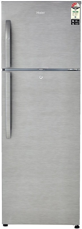 Haier 335 L 3 Star Frost-Free Double-Door Refrigerator (HRF-3554BS-E, Brushline Silver)