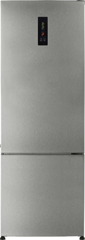 Haier 345 L 3 Star Frost-Free Double-Door Refrigerator (HRB-3654PSS, Stainless Steel, Bottom Freezer)