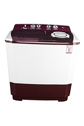 LG 10.0 kg Semi-Automatic Top Loading Washing Machine (P2065R3SA, Burgundy)