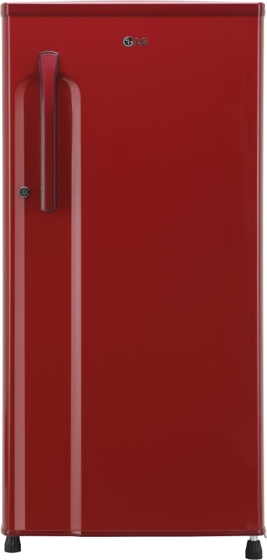 LG 188 L 3 Star Direct-Cool Single-Door Refrigerator (GL-B191KPRW, Peppy Red, Inverter Compressor)