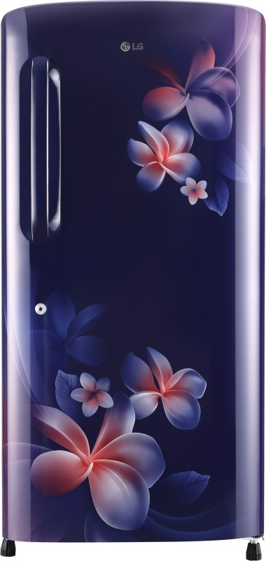 LG 215 L 4 Star Direct-Cool Single-Door Refrigerator (GL-B221ABPX, Blue Plumeria,Inverter Compressor)