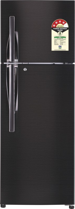 LG 335 L 4 Star Frost-Free Double-Door Refrigerator (GL-T372JBLN, Black Steel,Inverter Compressor)
