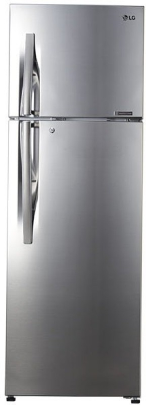 LG 335 L 4 Star Frost-Free Double-Door Refrigerator (GL-R372JPZN, Shiny Steel,Inverter Compressor)