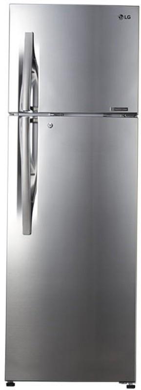 LG 335 L 4 Star Frost-Free Double-Door Refrigerator (GL-R372JPZN, Shiny Steel,Inverter Compressor)