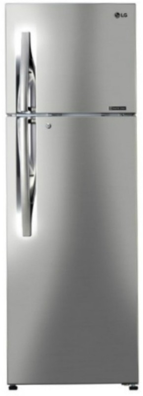 LG 360 L 3 Star Frost-Free Double-Door Refrigerator (GL-C402RPZU, Shiny Steel,Inverter Compressor)