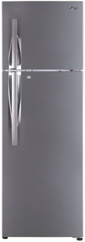 LG 360 L 3 Star Frost-Free Double-Door Refrigerator (GL-T402JPZU, Shiny Steel,Inverter Compressor)