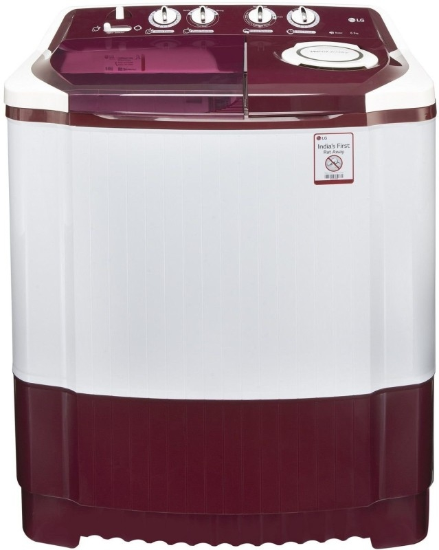 LG 6.5 kg Semi-Automatic Top Loading Washing Machine (P7559R3FA, Burgundy)