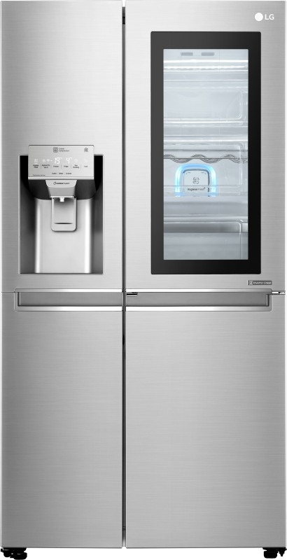 LG 668 L Frost-Free Side-by-Side Refrigerator (GC-X247CSAV, Noble Steel,Inverter Compressor)