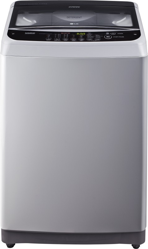 LG 7.0 kg Fully-Automatic Top Loading Washing Machine (T8081NEDLJ, Middle Free Silver)