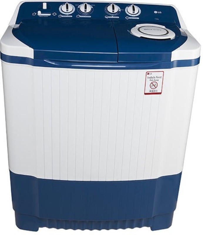 Lg 7.0 Kg Semi-Automatic Top Loading Washing Machine (P8071N3Fa, Dark Blue)