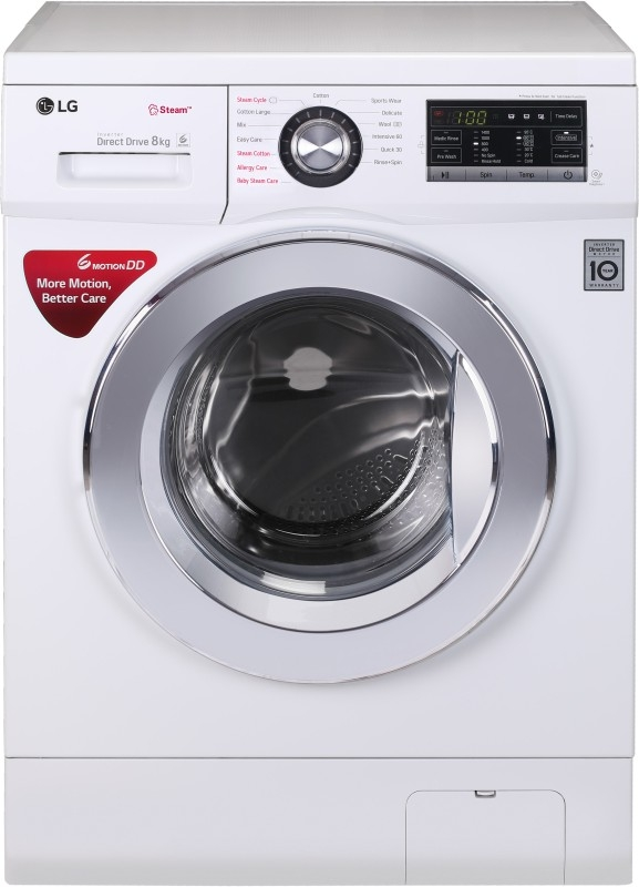LG 8 kg Fully Automatic Front Load Washing Machine White (FH4G6TDYL22)