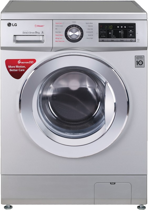 LG 9 kg Fully Automatic Front Load Washing Machine Silver (FH4G6VDYL42)