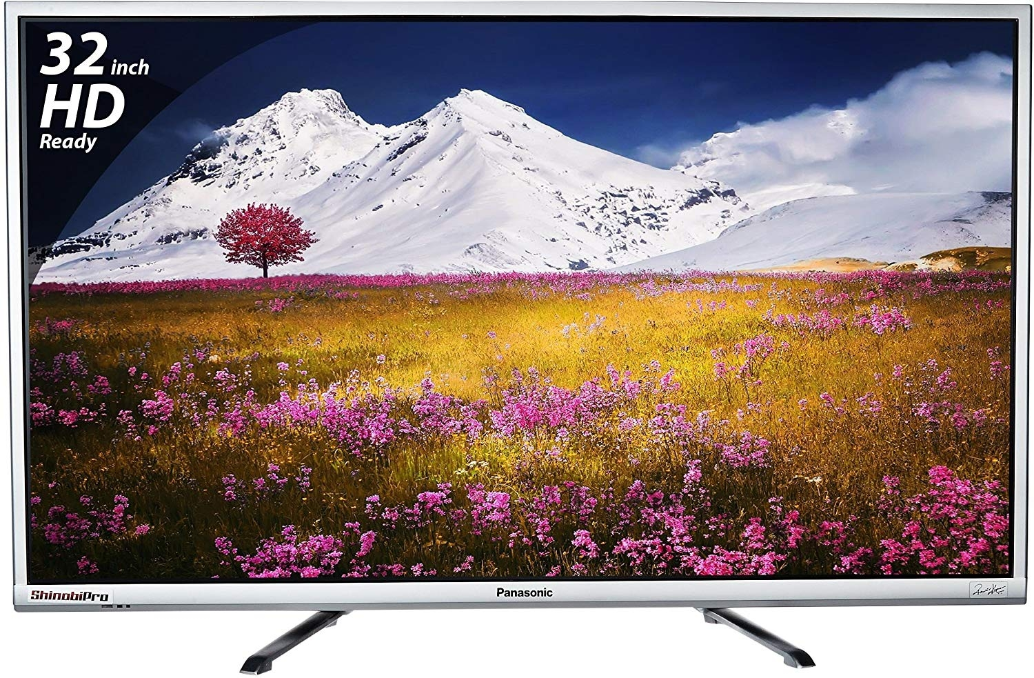 Panasonic 80 cm (32 inches) Viera Shinobi, Super Bright TH-32E460D HD Ready LED TV (Silver)
