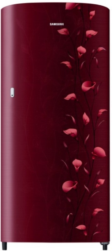 Samsung 192 L 2 Star Direct-Cool Single-Door Refrigerator (RR19N1112RZ/HL, Lily Red)