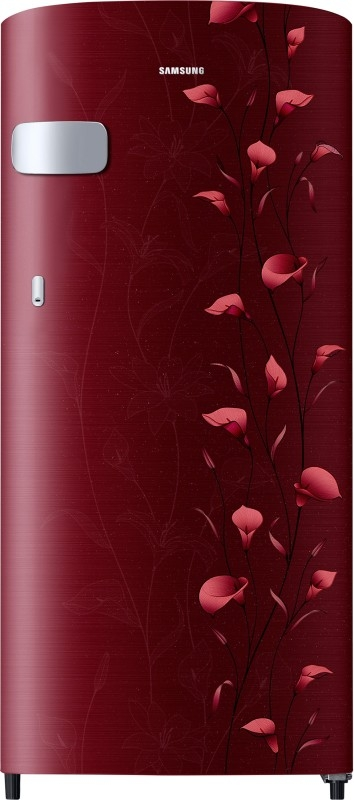 Samsung 192 L 2 Star Direct-Cool Single-Door Refrigerator (RR19N1Y12RZ/HL, Tender Lily Red)