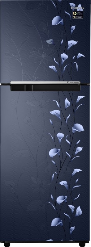 Samsung 253 L 2 Star Frost-free Double Door Refrigerator (RT28M3022UZ, Tender Lily Blue)