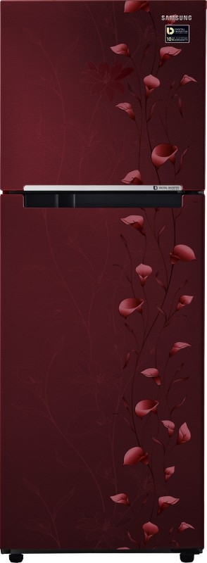 Samsung 253 L 2 Star Frost Free Double Door Refrigerator (RT28M3022RZ , Tender Lily Red)