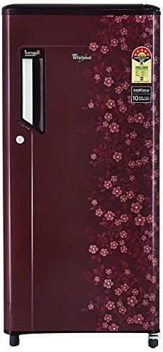 Whirlpool 190 L 3 Star Direct-Cool Single-Door Refrigerator (205 IMPC ROY 3S, Wine Titanium, Base Stand with Drawer)