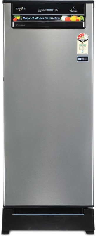 Whirlpool 200 L 3 Star Direct-Cool Single-Door Refrigerator (215 VITAMAGIC PRO ROY 3S, Alpha Steel)