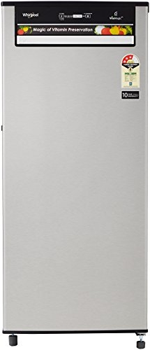 Whirlpool 200 L 3 Star Direct-Cool Single-Door Refrigerator (215 VitaMagic Pro PRM 3S, Alpha Steel)